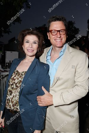 WEST HOLLYWOOD, CA - AUGUST 28: Exec. Producer Sara Colleton and exec. Producer John Goldwyn at Showtime's 2010 Emmy Nominees Party on August 28, 2010 at Skybar at Mondrian in West Hollywood, California.