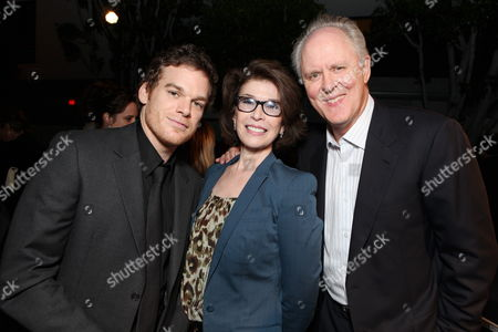 WEST HOLLYWOOD, CA - AUGUST 28: Michael C. Hall, Exec. Producer Sara Colleton and John Lighgow at Showtime's 2010 Emmy Nominees Party on August 28, 2010 at Skybar at Mondrian in West Hollywood, California.