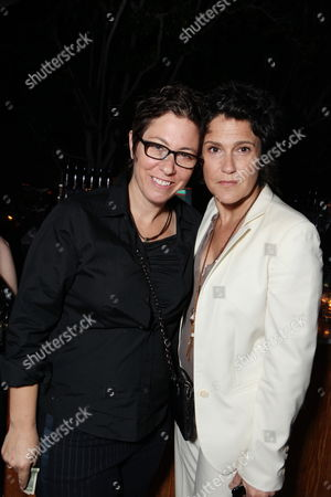 WEST HOLLYWOOD, CA - AUGUST 28: Lisa Cholodenko and Wendy Melvoin at Showtime's 2010 Emmy Nominees Party on August 28, 2010 at Skybar at Mondrian in West Hollywood, California.