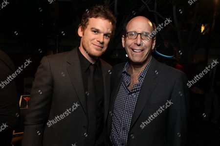 Stock Image of WEST HOLLYWOOD, CA - AUGUST 28: Michael C. Hall and Showtime's Matt Blank at Showtime's 2010 Emmy Nominees Party on August 28, 2010 at Skybar at Mondrian in West Hollywood, California.