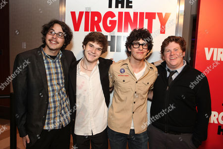 LOS ANGELES, CA - SEPTEMBER 07: Justin Kline, Jacob Davich, Matt Bennett and Zack Pearlman at a Special Screening of Columbia Pictures 'The Virginity Hit' at Regal Cinemas-LA Live on September 7, 2010 in Los Angeles, California. Justin Kline Jacob Davich Matt Bennett Zack Pearlman