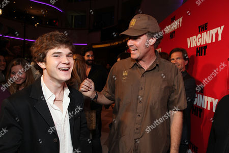 LOS ANGELES, CA - SEPTEMBER 07: Jacob Davich and Producer Will Ferrell at a Special Screening of Columbia Pictures 'The Virginity Hit' at Regal Cinemas-LA Live on September 7, 2010 in Los Angeles, California. Jacob Davich Will Ferrell