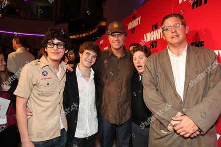 LOS ANGELES, CA - SEPTEMBER 07: Matt Bennett, Jacob Davich, Producer Will Ferrell, Zack Pearlman and Producer Adam McKay at a Special Screening of Columbia Pictures 'The Virginity Hit' at Regal Cinemas-LA Live on September 7, 2010 in Los Angeles, California. Matt Bennett Jacob Davich Will Ferrell Zack Pearlman Adam McKay