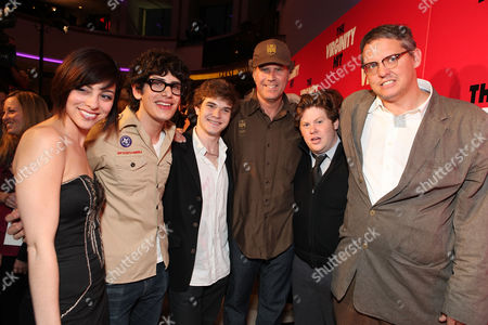 LOS ANGELES, CA - SEPTEMBER 07: Krysta Rodriguez, Matt Bennett, Jacob Davich, Producer Will Ferrell, Zack Pearlman and Producer Adam McKay at a Special Screening of Columbia Pictures 'The Virginity Hit' at Regal Cinemas-LA Live on September 7, 2010 in Los Angeles, California. Krysta Rodriguez Matt Bennett Jacob Davich Will Ferrell Zack Pearlman Adam McKay