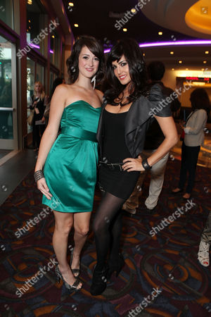 LOS ANGELES, CA - SEPTEMBER 07: Nicole Weaver and Sunny Leone at a Special Screening of Columbia Pictures 'The Virginity Hit' at Regal Cinemas-LA Live on September 7, 2010 in Los Angeles, California. Nicole Weaver Sunny Leone