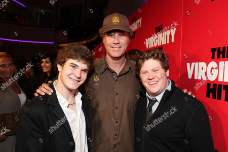 LOS ANGELES, CA - SEPTEMBER 07: Jacob Davich, Producer Will Ferrell and Zack Pearlman at a Special Screening of Columbia Pictures 'The Virginity Hit' at Regal Cinemas-LA Live on September 7, 2010 in Los Angeles, California. Jacob Davich Will Ferrell Zack Pearlman