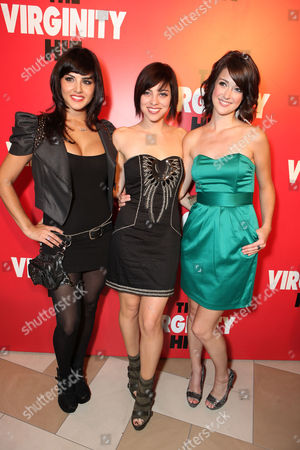 LOS ANGELES, CA - SEPTEMBER 07: Sunny Leone, Krysta Rodriguez and Nicole Weaver at a Special Screening of Columbia Pictures 'The Virginity Hit' at Regal Cinemas-LA Live on September 7, 2010 in Los Angeles, California. Sunny Leone Krysta Rodriguez Nicole Weaver