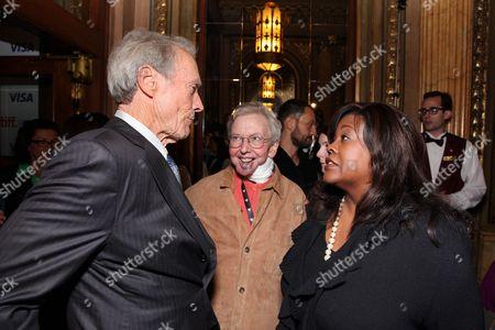 TORONTO, ON - SEPTEMBER 12: Clint Eastwood, Roger Ebert and Chaz Hammelsmith Ebert at Warner Bros. Premiere of 'Hereafter' at the 2010 Toronto International Film Festival at The Elgin on September 12, 2010 in Toronto, Canada. Clint Eastwood Roger Ebert Chaz Hammelsmith Ebert