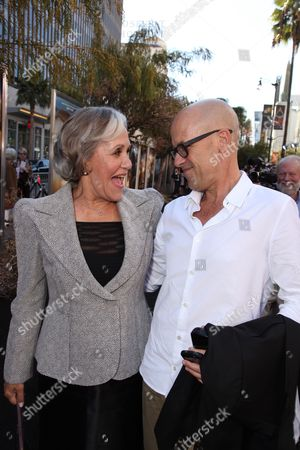 Stock Image of HOLLYWOOD - SEPTEMBER 19: Author Kathryn Lasky and Exec. Producer Donald De Line at The World Premiere of Warner Bros. 'Legend of the Guardians' at Grauman's Chinese Theatre on September 19, 2010 in Hollywood, California. Kathryn Lasky Donald De Line