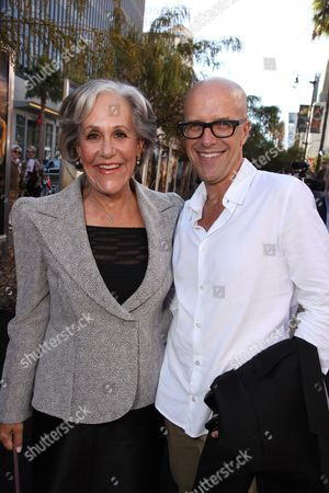 Stock Picture of HOLLYWOOD - SEPTEMBER 19: Author Kathryn Lasky and Exec. Producer Donald De Line at The World Premiere of Warner Bros. 'Legend of the Guardians' at Grauman's Chinese Theatre on September 19, 2010 in Hollywood, California. Kathryn Lasky Donald De Line