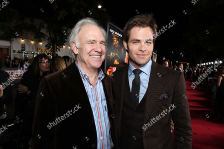 WESTWOOD, CA - OCTOBER 26: Robert Pine and Chris Pine at 20th Century Fox World Premiere of 'Unstoppable' at the Regency Village Theatre on October 26, 2010 in Westwood, California. Robert Pine Chris Pine