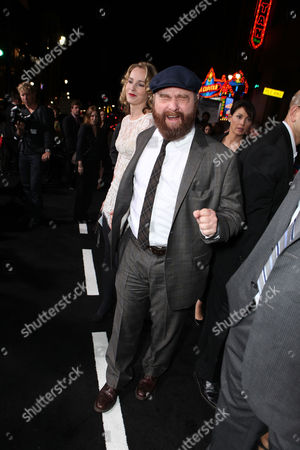 LOS ANGELES, CA - OCTOBER 28: Quinn Lundberg and Zach Galifianakis at the Warner Bros. Los Angeles Premiere of 'Due Date' at Grauman's Chinese Theater on October 28, 2010 in Los Angeles, California. Quinn Lundberg Zach Galifianakis