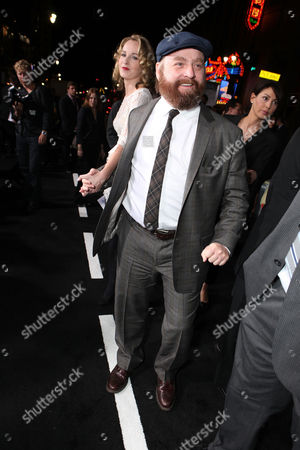 Stock Image of LOS ANGELES, CA - OCTOBER 28: Quinn Lundberg and Zach Galifianakis at the Warner Bros. Los Angeles Premiere of 'Due Date' at Grauman's Chinese Theater on October 28, 2010 in Los Angeles, California. Quinn Lundberg Zach Galifianakis