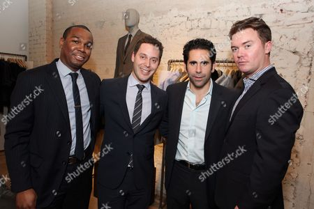 WEST HOLLYWOOD, CA - NOVEMBER 04: CAA's Darnell Strom, Michael Kives, Ara Keshishian and Jeff Speich at Theory event benefitting Communities In Schools supported by Grey Goose at Theory on November 4, 2010 in West Hollywood, California. Darnell Strom Michael Kives Ara Keshishian Jeff Speich