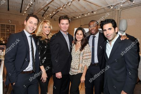 WEST HOLLYWOOD, CA - NOVEMBER 04: CAA's Michael Kives, Theory's Erin MacAlpine, CAA's Jeff Speich, CIS' Deborah Marcus, CAA's Darnell Strom and CAA's Ara Keshishian at Theory event benefitting Communities In Schools supported by Grey Goose at Theory on November 4, 2010 in West Hollywood, California. Michael Kives Erin MacAlpine Jeff Speich Deborah Marcus Darnell Strom Ara Keshishian