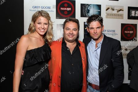 SANTA MONICA, CA - NOVEMBER 05: Sarah Wright, Richard Rionda Del Castro and Brian Presley at Cheetah Vision, Hannibal Pictures/Hannibal Classics, Emmet/Fula Films AFM Blow Out partnered with Grey Goose at Pier 59 Studios on November 5, 2010 in Santa Monica, California. Sarah Wright Richard Rionda Del Castro Brian Presley