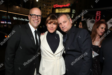 HOLLYWOOD - NOVEMBER 15: Producer Donald DeLine, Sony's Amy Pascal, and Screen Gems' Clint Culpepper at the Screen Gems Los Angeles Premiere of 'Burlesque' at Grauman's Chinese Theatre on November 15, 2010 in Hollywood, California. Donald DeLine Amy Pascal Clint Culpepper