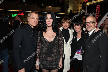HOLLYWOOD - NOVEMBER 15: Screen Gems' Clint Culpepper, Cher, Sony's Amy Pascal, Diane Warren, and Producer Donald DeLine at the Screen Gems Los Angeles Premiere of 'Burlesque' at Grauman's Chinese Theatre on November 15, 2010 in Hollywood, California. Clint Culpepper Cher Amy Pascal Diane Warren Donald DeLine