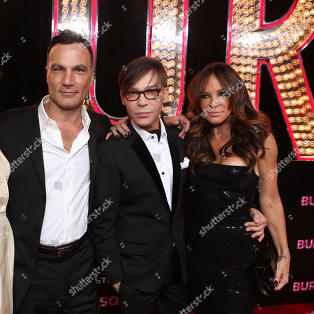 Stock Image of HOLLYWOOD - NOVEMBER 15: Jonathan Antin, Director Steven Antin, and Robin Antin at Grauman's Chinese Theatre on November 15, 2010 in Hollywood, California. Jonathan Antin Steven Antin Robin Antin