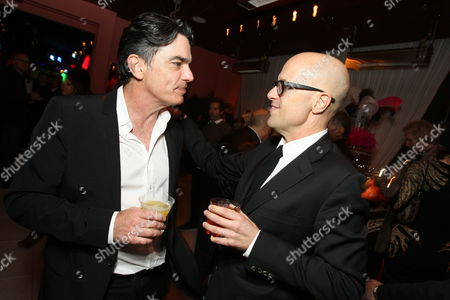 HOLLYWOOD - NOVEMBER 15: Peter Gallagher and Producer Donald DeLine at Screen Gems Los Angeles Premiere Party of 'Burlesque' at W Hollywood Hotel on November 15, 2010 in Hollywood, California. Peter Gallagher Donald DeLine