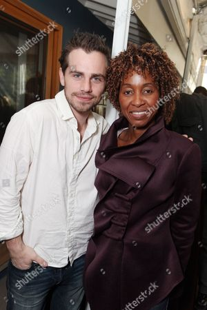 LOS ANGELES, CA - NOVEMBER 21: AMF's Malenia Ruth and Rider Strong at the African Millennium Foundation Fundraiser Partnered with Grey Goose to raise funds to buy solar ovens for AIDS orphans at Private Residence on November 21, 2010 in Los Angeles, California. Malenia Ruth Rider Strong