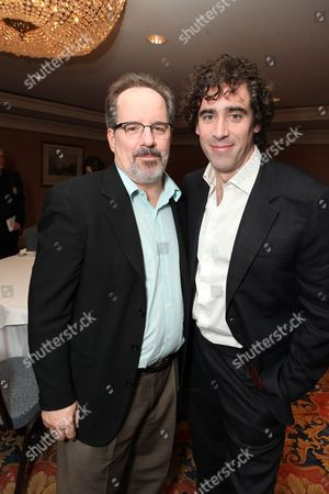 Stock Photo of PASADENA, CA - JANUARY 14: **EXCLUSIVE** John Pankow and Stephen Mangan at Showtime's 2011 Winter TCA at Langham Hotel on January 14, 2011 in Pasadena, California. John Pankow Stephen Mangan