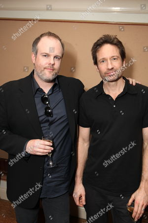 PASADENA, CA - JANUARY 14: **EXCLUSIVE** Creator/Exec. Producer Tom Kapinos and David Duchovny at Showtime's 2011 Winter TCA at Langham Hotel on January 14, 2011 in Pasadena, California. Tom Kapinos David Duchovny