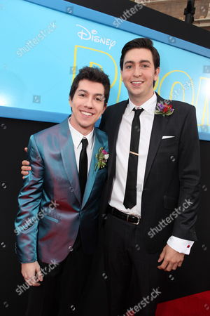 HOLLYWOOD, CA - APRIL 21: Jared Kusnitz and Nicholas Braun at The World Premiere of Disney's 'Prom' at the El Capitan Theatre on April 21, 2011 in Hollywood, California. Jared Kusnitz Nicholas Braun