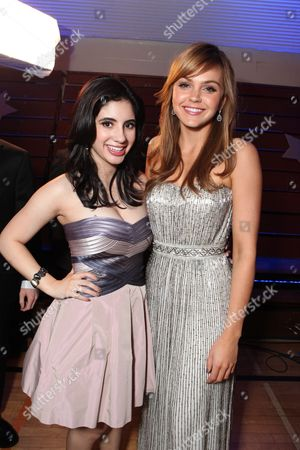 HOLLYWOOD, CA - APRIL 21: Janelle Ortiz and Aimee Teegarden at The World Premiere of Disney's 'Prom' at the El Capitan Theatre on April 21, 2011 in Hollywood, California. Janelle Ortiz Aimee Teegarden