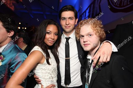 HOLLYWOOD, CA - APRIL 21: Kylie Bunbury, Nicholas Braun and Joe Adler at The World Premiere of Disney's 'Prom' at the El Capitan Theatre on April 21, 2011 in Hollywood, California. Kylie Bunbury Nicholas Braun Joe Adler