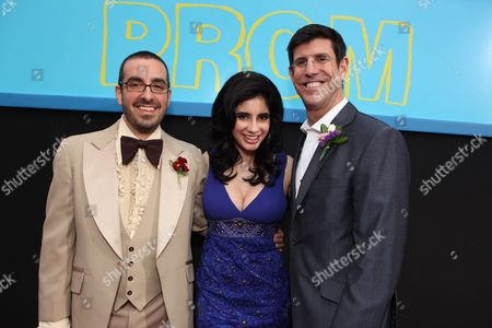 HOLLYWOOD, CA - APRIL 21: Director Joe Nussbaum, Janelle Ortiz and Chairman, The Walt Disney Studios - Rich Ross at The World Premiere of Disney's 'Prom' at the El Capitan Theatre on April 21, 2011 in Hollywood, California. Joe Nussbaum Janelle Ortiz Rich Ross