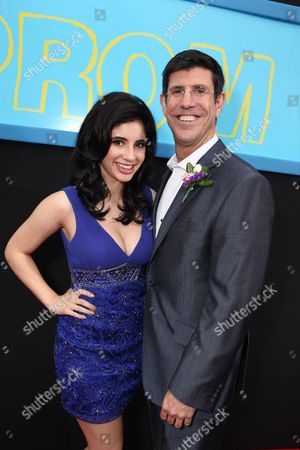 HOLLYWOOD, CA - APRIL 21: Janelle Ortiz and Chairman, The Walt Disney Studios - Rich Ross at The World Premiere of Disney's 'Prom' at the El Capitan Theatre on April 21, 2011 in Hollywood, California. Janelle Ortiz Rich Ross