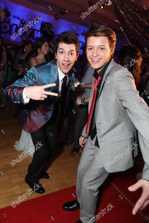 HOLLYWOOD, CA - APRIL 21: Jared Kusnitz and Nolan Sotillo at The World Premiere of Disney's 'Prom' at the El Capitan Theatre on April 21, 2011 in Hollywood, California. 'Jared Kusnitz Nolan Sotillo