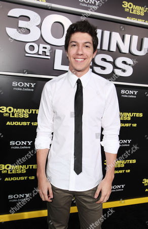Stock Image of HOLLYWOOD, CA - AUGUST 08: Jared Kusnitz at Columbia Pictures World Premiere of '30 Minutes Or Less' at Grauman's Chinese Theatre on August 8, 2011 in Hollywood, California. Jared Kusnitz