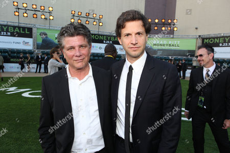 OAKLAND, CA - SEPTEMBER 19: Writer Steve Zaillian and Director Bennett Miller at Columbia Pictures Premiere of 'Moneyball' to Benefit the Fight Against Cancer with Children's Hospital & Research Center in Oakland and Stand Up to Cancer at the Paramount Theatre of the Arts on September 19, 2011 in Oakland, California. Steve Zaillian Bennett Miller