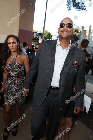OAKLAND, CA - SEPTEMBER 19: Rebecca Villalobos and David Justice at Columbia Pictures Premiere of 'Moneyball' to Benefit the Fight Against Cancer with Children's Hospital & Research Center in Oakland and Stand Up to Cancer at the Paramount Theatre of the Arts on September 19, 2011 in Oakland, California. Rebecca Villalobos David Justice