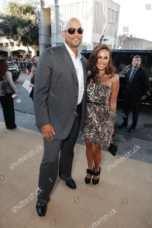 OAKLAND, CA - SEPTEMBER 19: David Justice and Rebecca Villalobos at Columbia Pictures Premiere of 'Moneyball' to Benefit the Fight Against Cancer with Children's Hospital & Research Center in Oakland and Stand Up to Cancer at the Paramount Theatre of the Arts on September 19, 2011 in Oakland, California. David Justice Rebecca Villalobos