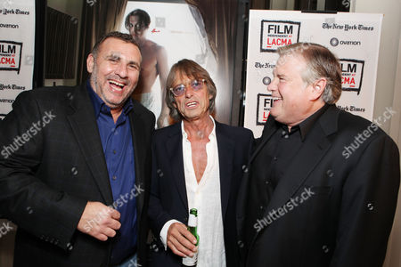 LOS ANGELES, CA - OCTOBER 13: Producer Graham King, Writer/Director Bruce Robinson and Producer Tim Headington attend FilmDistrict's World Premiere of 'The Rum Diary' at Bing Theatre at LACMA on October 13, 2011 in Los Angeles, California. Graham King Bruce Robinson Tim Headington