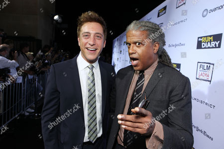 LOS ANGELES, CA - OCTOBER 13: Sean McManus and Elvis Mitchell attend FilmDistrict's World Premiere of 'The Rum Diary' at Bing Theatre at LACMA on October 13, 2011 in Los Angeles, California. Sean McManus Elvis Mitchell