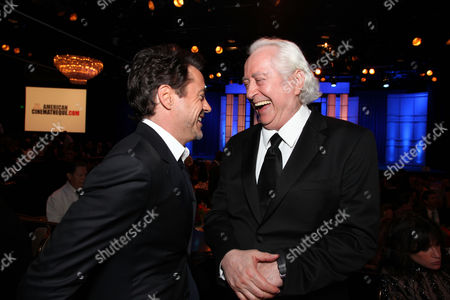 BEVERLY HILLS, CA - OCTOBER 14: (EXCLUSIVE COVERAGE) Robert Downey Jr. and Robert Downey Jr. at American Cinematheque's 2011 Award Show Honoring Robert Downey Jr. at The Beverly Hilton Hotel on October 14, 2011 in Beverly Hills, California. Robert Downey Jr. Robert Downey Sr.