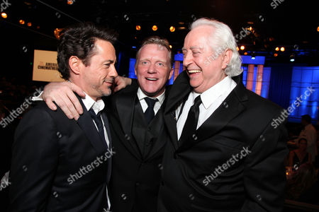 BEVERLY HILLS, CA - OCTOBER 14: (EXCLUSIVE COVERAGE) Robert Downey Jr., Anthony Michael Hall and Robert Downey Jr. at American Cinematheque's 2011 Award Show Honoring Robert Downey Jr. at The Beverly Hilton Hotel on October 14, 2011 in Beverly Hills, California. Robert Downey Jr. Anthony Michael Hall Robert Downey Sr.
