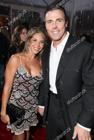 WESTWOOD, CA - NOVEMBER 06: Julie Legrand and Bill Romanowski at Columbia Pictures' World Premiere of 'Jack and Jill' at Regency Village Theatre on November 6, 2011 in Westwood, California. Julie Legrand Bill Romanowski