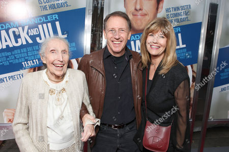 Stock Picture of WESTWOOD, CA - NOVEMBER 06: Marion Dugan, Director Dennis Dugan and Sharon Dugan at Columbia Pictures' World Premiere of 'Jack and Jill' at Regency Village Theatre on November 6, 2011 in Westwood, California. Marion Dugan Dennis Dugan Sharon Dugan