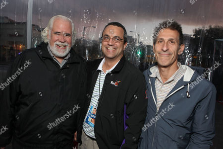 WESTWOOD, CA - NOVEMBER 06: Sony's Jeff Blake, Producer Jack Giarraputo and Sony's Michael Lynton at Columbia Pictures' World Premiere of 'Jack and Jill' at Regency Village Theatre on November 6, 2011 in Westwood, California. Jeff Blake Jack Giarraputo Michael Lynton