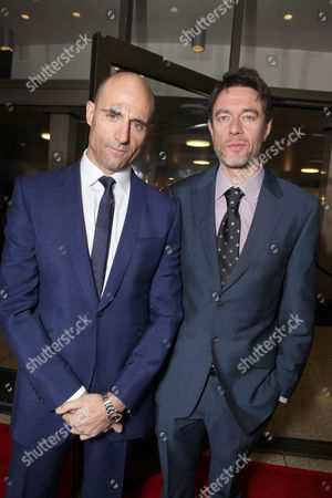 HOLLYWOOD, CA - DECEMBER 06: Mark Strong and Co-screenwriter Peter Straughan at Focus Features Premiere of 'Tinker Tailor Soldier Spy' held at ArcLight Hollywood on December 6, 2011 in Hollywood, California. Mark Strong Peter Straughan