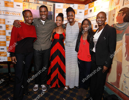 LOS ANGELES, CA - DECEMBER 08: Director Dee Rees, Charles Parnell, Aasha Davis, Adepero Oduye, Sahra Mellesse and producer Nekissa Cooper at Focus Features Premiere of 'Pariah' at the Vista Theatre on December 8, 2011 in Los Angeles, California. (Photo by Le Studio/FilmMagic)Dee Rees Charles Parnell Aasha Davis Adepero Oduye Sahra Mellesse Nekissa Cooper