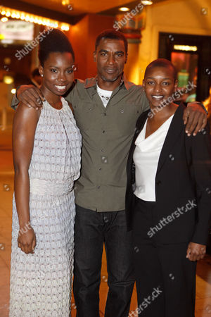 LOS ANGELES, CA - DECEMBER 08: Adepero Oduye, Charles Parnell and producer Nekissa Cooper at Focus Features Premiere of 'Pariah' at the Vista Theatre on December 8, 2011 in Los Angeles, California. (Photo by Le Studio/FilmMagic)Adepero Oduye Charles Parnell Nekissa Cooper