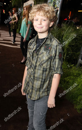 HOLLYWOOD, CA - FEBRUARY 02: Riley Thomas Stewart at New Line Cinema's Los Angeles Premiere of 'Journey 2: The Mysterious Island' held at Grauman's Chinese Theatre on February 2, 2012 in Hollywood, California. Riley Thomas Stewart