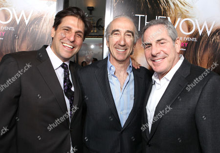 HOLLYWOOD, CA - FEBRUARY 06: Producers Jonathan Glickman, Gary Barber and Roger Birnbaum at Screen Gems' World Premiere of 'The Vow' held at Grauman's Chinese Theatre on February 6, 2012 in Hollywood, California. Jonathan Glickman Gary Barber Roger Birnbaum
