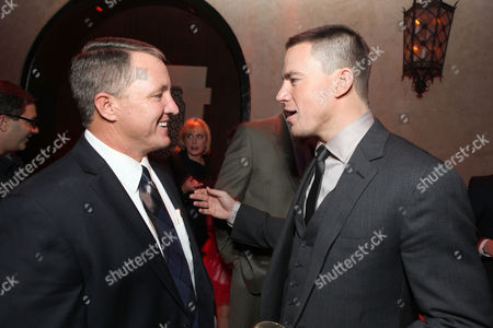 Stock Photo of HOLLYWOOD, CA - FEBRUARY 06: Kim Carpenter (who inspired the story) and Channing Tatum at Screen Gems' World Premiere of 'The Vow' held at Grauman's Chinese Theatre on February 6, 2012 in Hollywood, California. Kim Carpenter Channing Tatum
